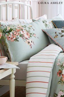 Set of 2 Laura Ashley Sage Rosemore Pillowcases