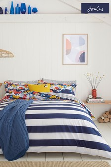 Joules Blue St Ives Floral Duvet Cover and Pillowcase Set