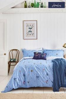 Joules Blue Pollinators Duvet Cover and Pillowcase Set