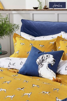 Joules Blue Sketchy Dogs Cushion