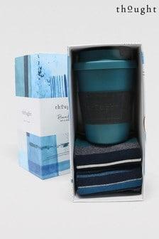 Носки и кружка для кофе в подарочной упаковке Thought Jem Pla