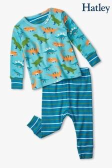 Hatley Blue Baby Dinos Organic Cotton Baby Pyjama Set