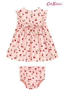 Cath Kidston Baby Pink Ella Cherries Dress