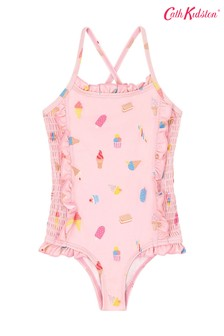 Cath Kidston Baby Pink Mini Ice Creams Shirred Swimsuit