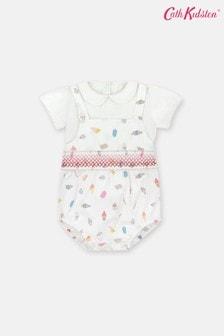 Cath Kidston Baby White Smocked Romper Set