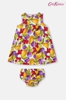 Cath Kidston Baby Cream Eleanor Small Painted Fruit Dress