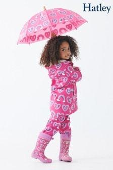 Пурпурная куртка с принтом и меховой подкладкой Hatley Splash