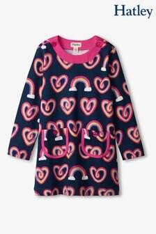 فستان Twisty Rainbow Hearts Mod أزرق من Hatley
