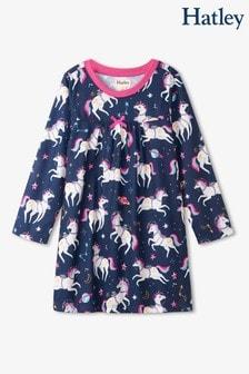 Hatley Blue Space Unicorns Long Sleeve Nightdress