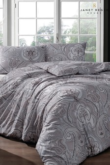 Janet Reger Natural Paisley Dreams Duvet Cover and Pillowcase Set