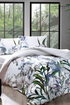 Janet Reger Purple Lily Duvet Cover and Pillowcase Set