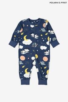 Polarn O. Pyret Organic Cotton Space Print Onesie Pyjamas
