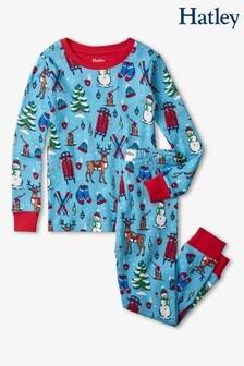 Hatley Blue Winter Wonderland Cotton Pyjama Set