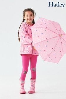 Hatley Pink Scattered Hearts Glitter Raincoat