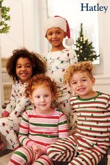 Hatley Cream Glowing Holiday Lights Pyjama Set