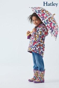 Hatley Cream Kaleidoscope Butterflies Microfleece Lined Jacket