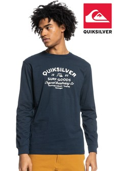 Quiksilver Blue Closed Tion – Long Sleeve T-Shirt For Men