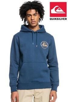 Quiksilver Men Blue Mirror Logo Fleece (A46010)   $76