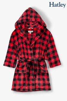 Hatley Kids Red Buffalo Plaid Fleece Robe