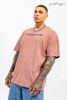 Hype. Brown Mens Oversized Vintage T-Shirt