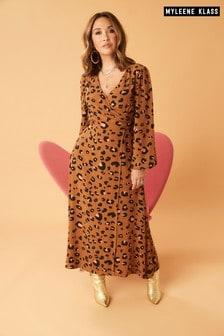 Myleene Klass Animal Print Wrap Dress