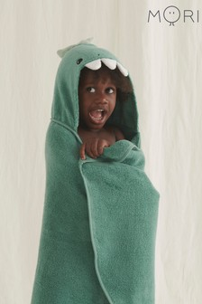 MORI Organic Cotton Dinosaur Hooded Kids Bath Towel