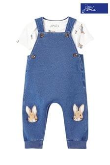 Joules Peter Rabbit Wilbur Organic Cotton Dungaree Set