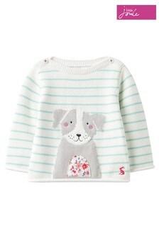 Joules Blue Winnie Artwork Knitted Jumper