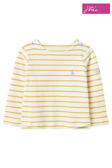Joules Yellow Harbour Stripe Organically Grown Cotton Top