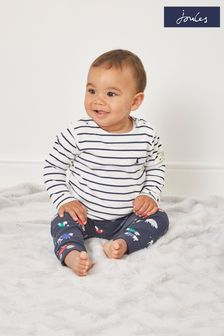 Joules 1-24 mths Harbour Stripe Organically Grown Cotton Top