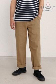 Seasalt Cornwall Mens Natural Journeyman Trousers