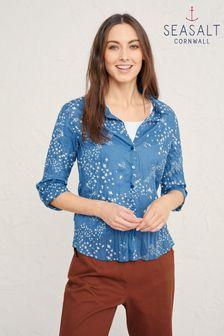 חולצה כחולה של Seasalt Cornwall דגם Larissa