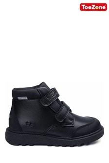 ToeZone Black Twin Strap Boots
