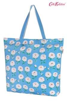Синяя складная трапециевидная сумка Cath Kidston Dahlia (большая)