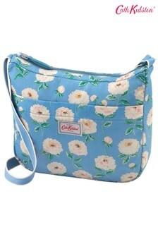 Синяя складная сумка с длинным ремешком Cath Kidston Dahlia