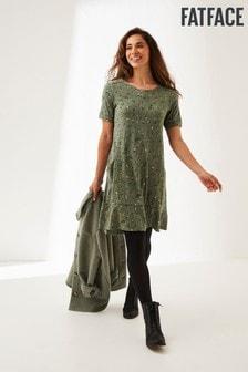 Zelena obleka iz džersija Fat Face Simone Sketched