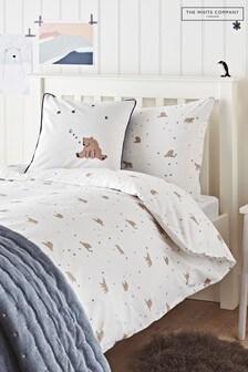 The White Company White Sleepy Bear Bed Linen Set