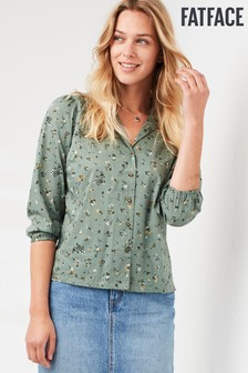 חולצה פרחונית של FatFace דגם Olive Sketched בירוק