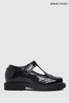 Schuh Black Leader T-Bar Shoes