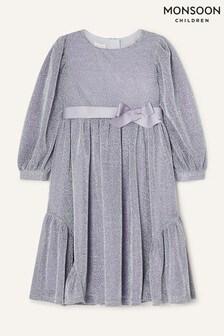 Серебристое платье с длинными рукавами Monsoon Erin