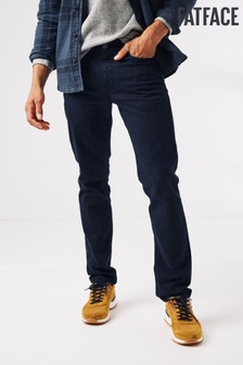 FatFace Blue Ashton Slim 5 Pocket Trousers