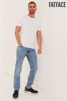 FatFace Blue Straight Light Wash Jeans