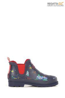 Синие женские резиновые ботинки Regatta Harper