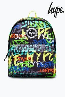 Hype. Green Graffiti Logo Backpack