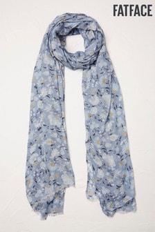 Fat Face Festival Schal mit Blumenmuster, Blau