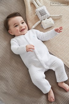The White Company Robot Embroidery Quilted Sleepsuit