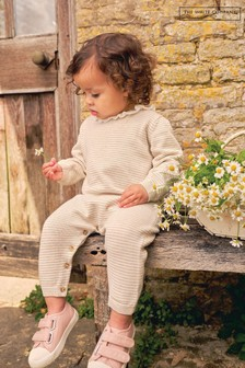 The White Company Frill Collar Knitted Romper