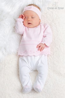 Emile et Rose Pink All in One & Headband