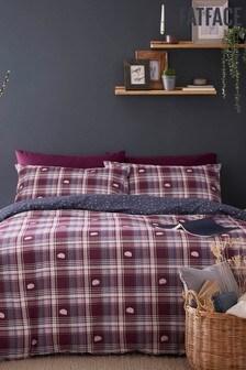 Fat Face Purple Hibernating Hedgehogs Duvet Cover and Pillowcase Set
