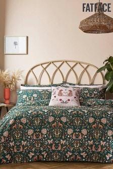 Fat Face Green Bali Dreams Duvet Cover and Pillowcase Set